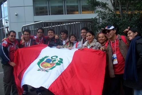 Pilgrims from Peru