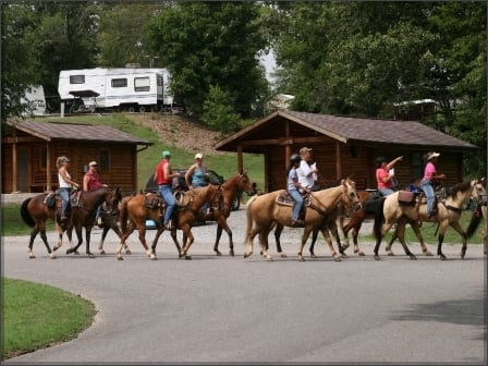 Wrangler's Camp is a favorite among Land Between the lakes visitors.