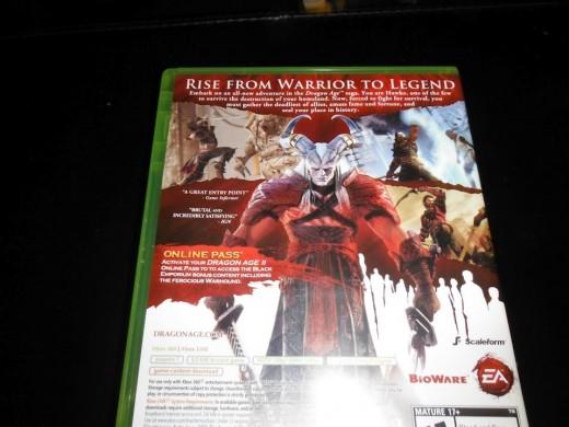 The back cover of my copy of Dragon Age 2.