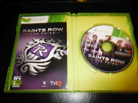 The inside case of my copy of Saints Row: The Third.