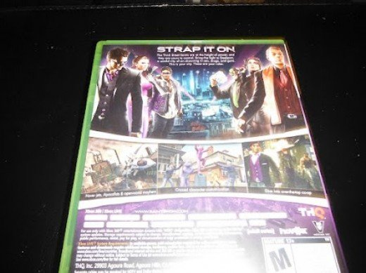 The back cover of my copy of Saints Row: The Third.