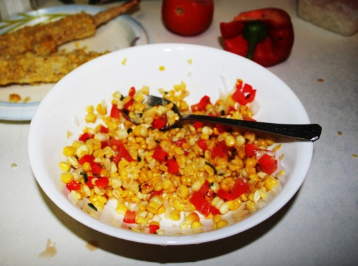 Homemade corn salsa is a sweet and spicy treat that both kids and adults will enjoy.