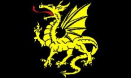 The golden serpent (dragon) of Mercia, still used in Christian times as the newer Mercian banner... Eadric Streona's men would carry this banner into the fight - or not, as the case proved
