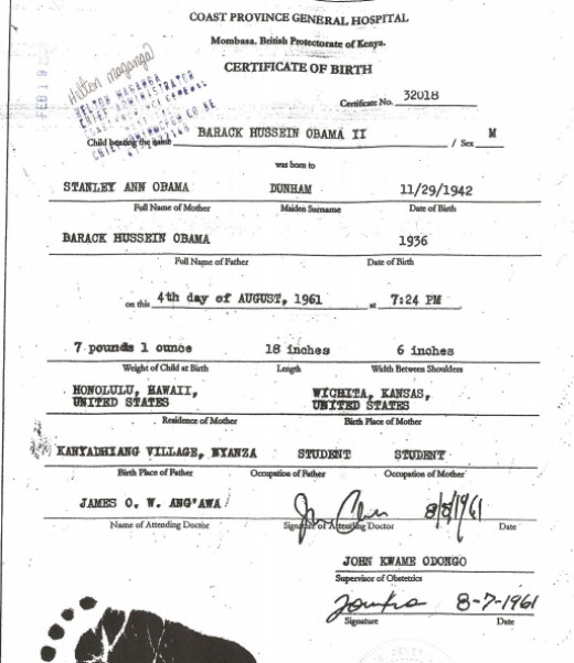 The Kenya Birth Certificate. Is it legit?