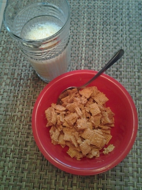 Peanut Butter Honey Cereal and Milk