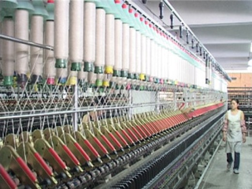 In this now highly mechanized industrial world, it takes very little labor input to create huge amounts of raw linen from raw resources like cotton. This process used to take the efforts of hundreds of workers, even in Engels day.