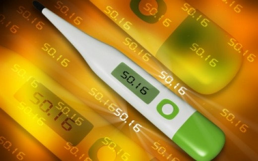 Use a digital or glass thermometer to check your basal body temperature.  Just be sure and stick with the same one every morning!
