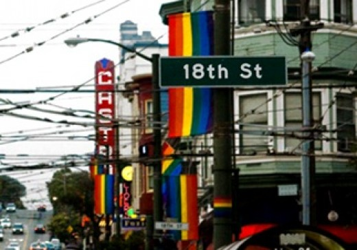 Ah, yes - the rainbow flags of the Castro.