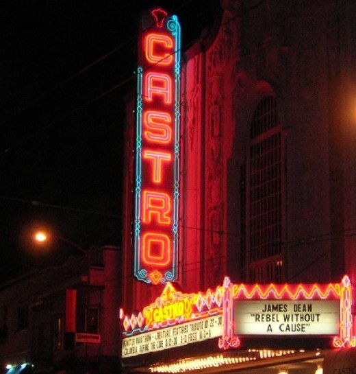 This is actually a shot of the Castro Theater, because I wasn't able to find pictures of any of the actual bars. Will update soon!