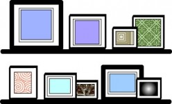 Use ledges as an easy way to rotate pictures.