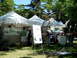 Sculpture by Rober Roemisch in environmental area of 2012 Paso Robles Festival of the Arts.