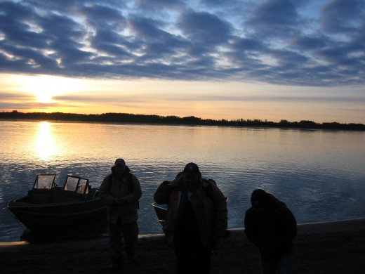 Dawn on the Kuskokwim River
