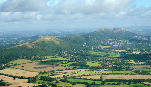 The mighty Malvern Hills- that dominate the Midlands countryside. Like Cannock Chase they have been designated an 'Area of Outstanding Natural Beauty.'