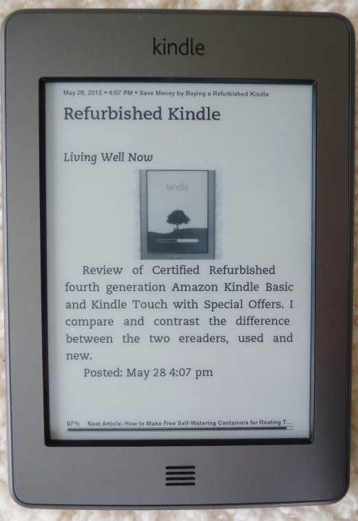 4th generation Kindle Touch