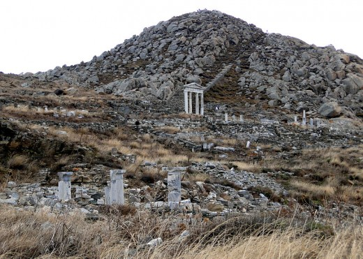This image of Mount Cynthus on Delos with the Temple of Isis in the background was taken by Bernard Gagnon on October 12, 2011.