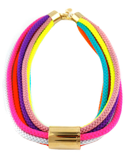 A coloful necklace like this is sure to make a statement.