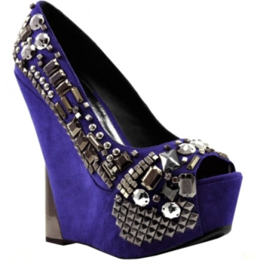 "This studded shoe gives a glam twist to the everyday ""rocker"" studs. (Bakers)"
