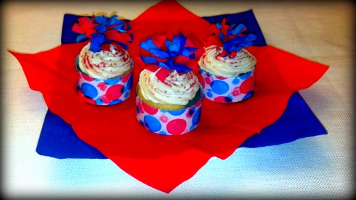 Celebrate the 4th of July with these festive cupcakes!