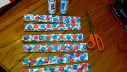 Our finished 4th of July cupcake wrappers.