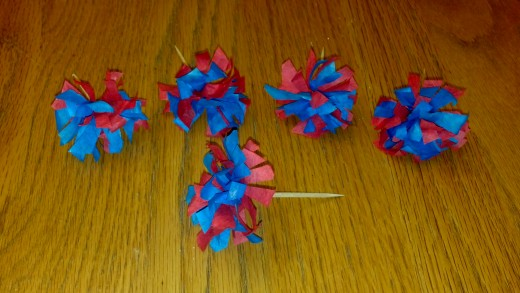 Our finished 4th of July cupcake topper.