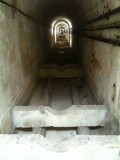 Inside of the actual aqueduct where water once flowed to provide clean water to Lisbonites