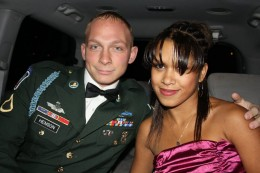 My friend Kisha and her husband on our way to the ball