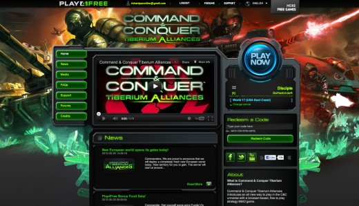 Command & Conquer Tiberium Alliances Main Menu