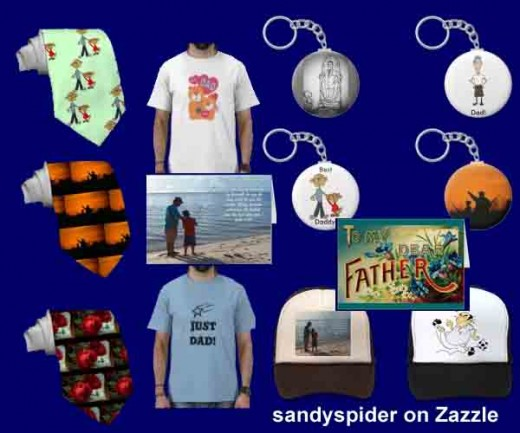 Click on the source for Father's Day gift ideas on Zazzle or discover the entire sandyspider product lines.