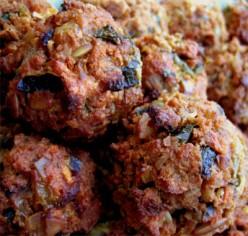 Vegetarian Baked Meatballs - a non-soy recipe
