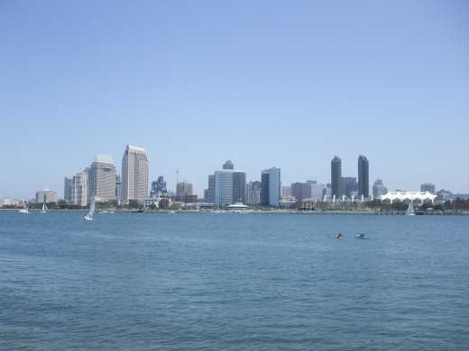 View of San Diego from Tidelands Park on Coronado Island