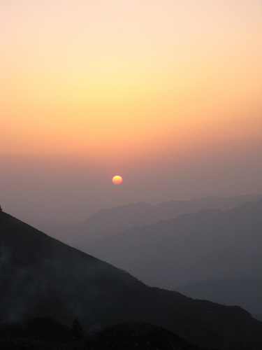 Sunset at Longji Terrace Hills from Wootang01 Source: flickr.com