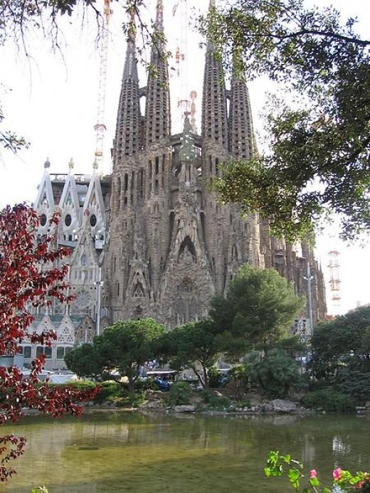 The Nativity facade of La Sagrada Familia.
