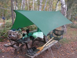 Lightweight tarps are handy when your find yourself car camping too.