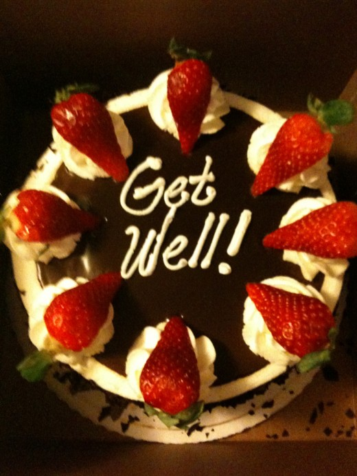 The 'infamous' get well cake.  Very unexpected, absolutely delicious, much appreciated.