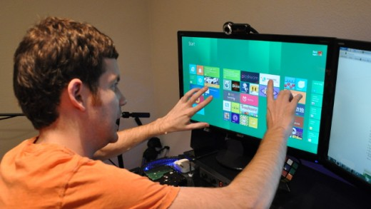 The Metro Interface on a touch-enabled monitor.