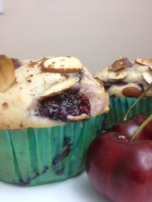If you love cherries...you will adore this cherry almond muffin!