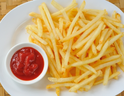 French fries tastes great but they are usually fried in unhealthy hydrogenated oils. Fried foods cause belly fat.