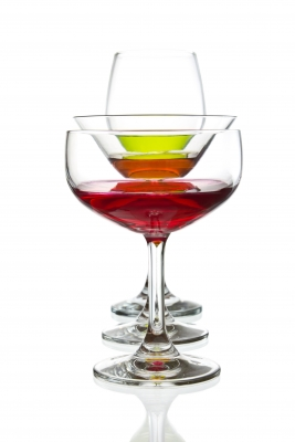 Wine, beer and cocktails contain alcohol. Alcohol converts to sugar and creates belly fat.