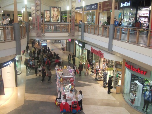 The wide mall space is great for those who have mobility issues.