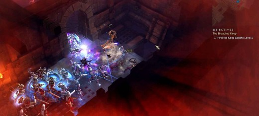 Diablo 3 Breached Keep Quest - the battles in the Keep Depths are mostly against hordes of monsters in small rooms