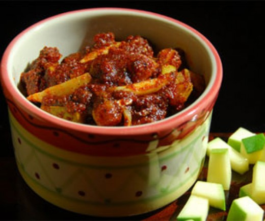 delicious Indian mango pickle