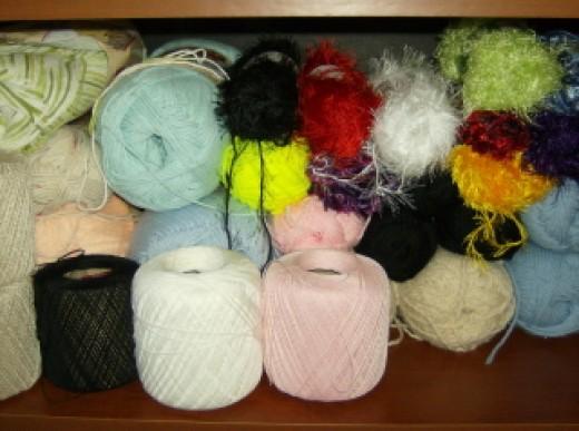Stash of yarn