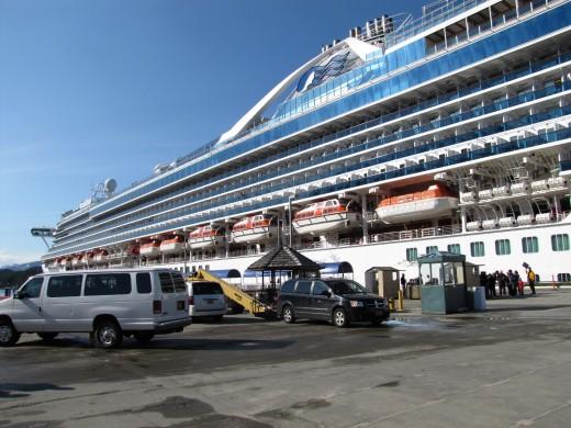 Golden Princess docked in Ketchikan Alaska