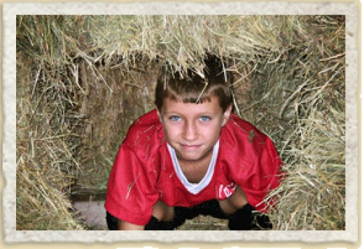 Hay bale mazes are fun (and can be found today in the country, especially in the fall).