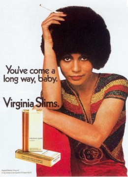 The iconic women's lib smoking ad of the 1970's