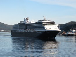 The Westerdam from Holland America Cruise Lines.