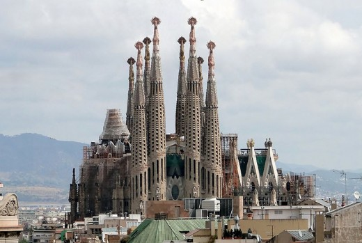 Another perspective of Gaudi's Sagrada Familia