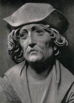Sculptor self-portrait of Tilman Riemenschneider.