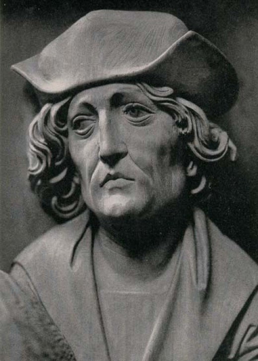 Sculptor self-portrait of Tilman Riemenschneider.