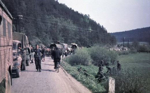 German troops on march